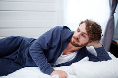 Sleepless man Royalty Free Stock Photos