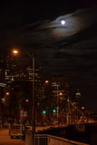 Sleepless on Seattle's Waterfront at Night, Seattle, Washington Stock Photos