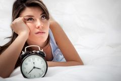 Sleepless woman Royalty Free Stock Photography