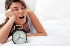 Sleepless woman Stock Photos