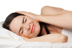 Sleepless woman Stock Photo