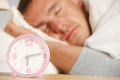 Sleepling man Royalty Free Stock Photography