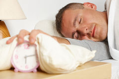 Sleepling man Stock Photo