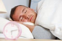 Sleepling man Royalty Free Stock Photo