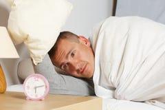 Sleepling man Stock Image