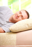 Sleepling man Stock Photos