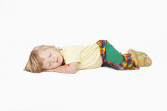 Sleepnig del muchacho fotografía de archivo