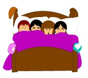 Sleepover stock illustration