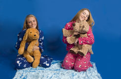Sleepover hijinks Stock Photography
