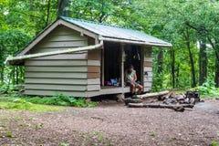 Sleepschuilplaats op de Appalachian Sleep Royalty-vrije Stock Foto