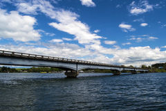 Sleept Ford Bridge - Smith Mountain Lake, Virginia, de V.S. stock foto's
