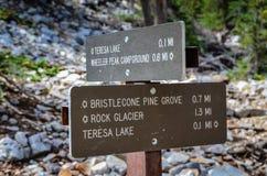 Sleepteken - Groot Bassin Nationaal Park - Baker, Nevada Royalty-vrije Stock Afbeelding