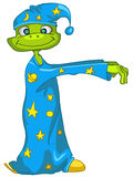 Sleepwalker del personaggio dei cartoni animati illustrazione vettoriale