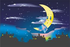 Sleepy atmosphere of the night Stock Images