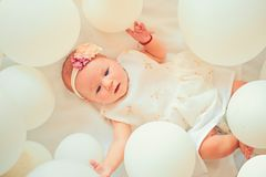 Sleepy baby. Childhood happiness. Sweet little baby. New life and birth. Family. Child care. Childrens day. Small girl. Happy birthday. Portrait of happy stock photo