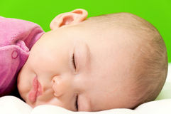 Sleepy baby girl Stock Image