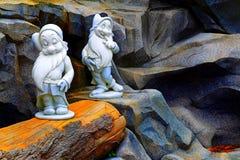 Sleepy and bashful dwarfs of snow white disney Royalty Free Stock Photos