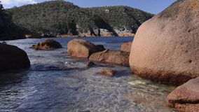 Sleepy Bay in Freycinet National Park. Tasmania stock footage