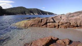 Sleepy Bay in Freycinet National Park. Tasmania stock video