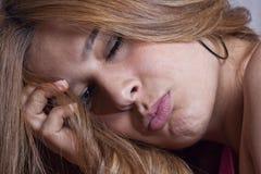 Sleepy beauty portrait Stock Photos