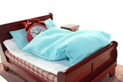 Sleepy in bed Stock Images