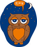 Sleepy Brown Owl Royalty Free Stock Image