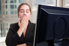 Sleepy Businesswoman Royalty Free Stock Photo