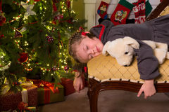 Sleepy with christmas Stock Photo
