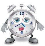 Sleepy clock. Abstract illustration of the clock who is sleepy royalty free illustration
