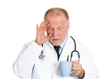 Sleepy doctor Royalty Free Stock Photography