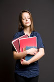 Sleepy dreamy young student. Royalty Free Stock Photography