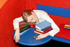 Sleepy education Stock Photo