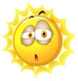 Sleepy face on the sun Stock Image