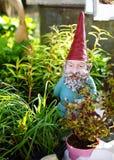Sleepy garden gnome Stock Photos