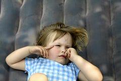 Sleepy girl stock image