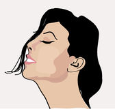 Sleepy girl. Sleeping girl with black hair Stock Images