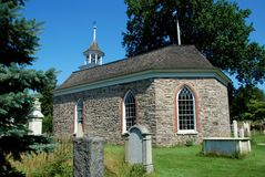 Sleepy Hollow, NY: 1685 Old Dutch Church. The historic little 1685 Old Dutch Church of Sleepy Hollow, the oldest surviving church in NY State, built by colonial Stock Photos