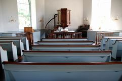 Sleepy Hollow, NY: 1685 Old Dutch Church Interior Stock Photo