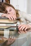 Sleepy job stock image