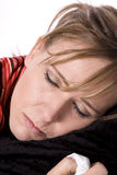 Sleepy lady sick Royalty Free Stock Photos