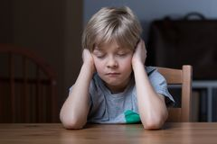 Sleepy little boy Royalty Free Stock Images