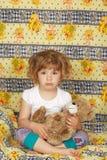 Sleepy little girl Royalty Free Stock Photo