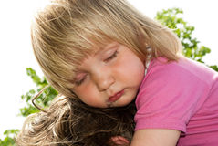 Sleepy little girl Royalty Free Stock Photos