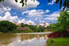 The sleepy little river_xishuangbanna_yunna Stock Photo