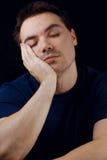 Sleepy man stock photography