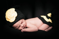 Sleepy newborn girl. Royalty Free Stock Photo