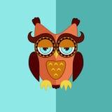 Sleepy owl flat vector icon Stock Photo