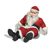 Sleepy Santa Royalty Free Stock Photo