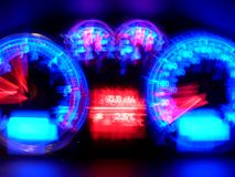 Sleepy Speedfreak. A blurry tachometer Royalty Free Stock Photography