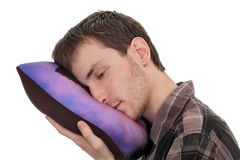 Sleepy student Stock Images